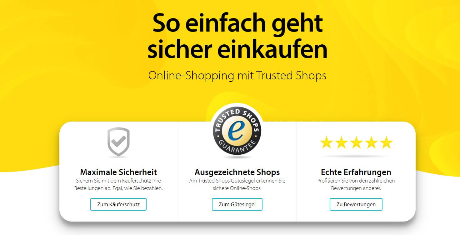 Trusted Shops customer reviews become standard